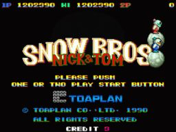 snow bros initial screen